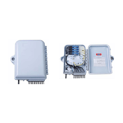 SOPTO Splitter Distribution BoxOutdoor pole mounted/wall mounted 16 cores Simplex SC/Duplex LC type available for plugin splitter installation without hoop ,without adaptors , pigtails and splitte Plastic type E SPDF-O16SCS-PPPE