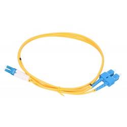 Extralink Patchcord SC/UPC-LC/UPC SM DUPLEX G652D 3.0MM 1M PVC