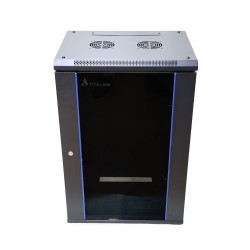 Extralink 15U 600X450 Wall-Mounted Rackmount Cabinet Black